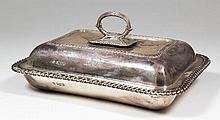 A George V silver rectangular entree dish and