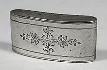 A George III silver rectangular snuff box of