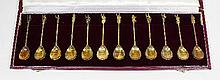 Set of twelve Elizabeth II silver gilt apostle