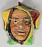 A Royal Doulton pottery face mask -