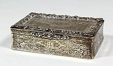 A Victorian silver rectangular table snuff box