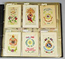 A collection of 120 First World War embroidered
