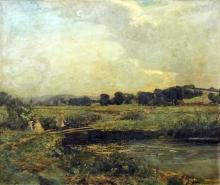 Harry Watson (1871-1936) - Large oil painting - River landscape, thought to