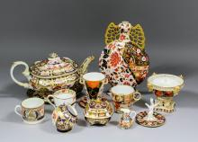 A collection of 19th and 20th Century English porcelain decorated in the