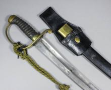 A 19th Century British Police Constabulary hanger sword, the 23.5ins curved