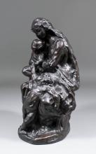 After Jean-Baptiste Carpeaux (1827-1875) - Bronze of Our Lady of St. Cordon