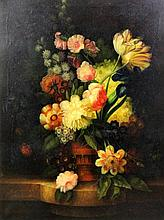 N. Cannicci - Oil painting - Still life with vase of flowers, canvas 40ins x 30.5ins, signed, in gil