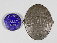 A 1932 enamel Royal Automobile Club Rally badge, made by the Birmingham Medal Company, 1.25ins diame