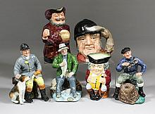 A collection of eleven Royal Doulton character jugs and figures, including -