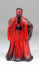 A modern Royal Doulton flambe pottery figure of