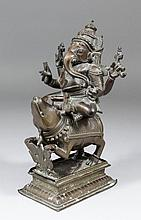 An Indian bronze figure -