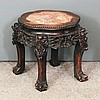 A Chinese blackwood octofoil topped jardiniere