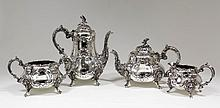 An Edward VII silver four piece tea and coffee
