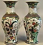 A pair of 19th Century Chinese porcelain baluster