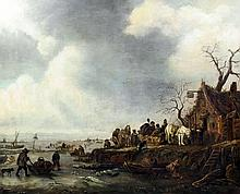 18th/19th Century Dutch School - Oil painting - Wi