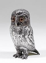 A Victorian novelty silver sugar castor modelled a