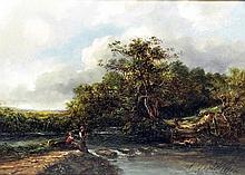 19th Century English School - Pair of oil painting