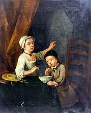 18th Century English School - Oil painting -