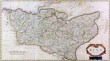 Robert Morden (fl. 1668-1703) - Coloured engraving