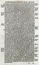 A single Bible page (printed in English) -