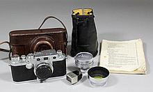 A Leica IIIC camera, Body No. 547174, with 28mm le