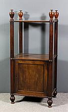 A Victorian mahogany rectangular two tier whatnot