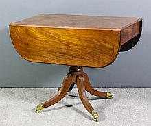 A George III mahogany Pembroke supper table with D