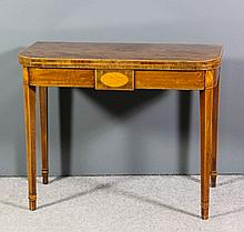 A George III mahogany rectangular tea table with r