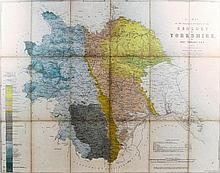19th Century chromolithographic folding map of the