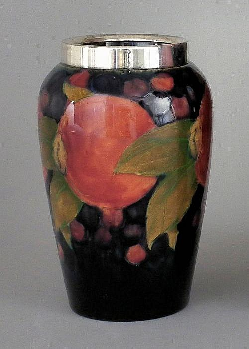 A Moorcroft pottery baluster shaped vase with