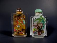 TWO CHINESE INNER-PAINTING SNUFF BOTTLES