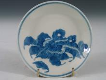 Chinese Blue and White Porcelain Dish, Republic Period