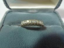 14K SOLID GOLD NATURAL DIAMOND WEDDING RING BAND 0.5 CARAT 2 GRAMS