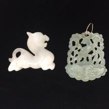 TWO CHINESE ANTIQUE JADE CARVING