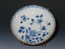 Antique Chinese B&W Porcelain Saucer #11.