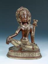 Antique Indian/Tibetan Bronze Buddha.