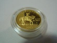 1995 W USA COMMEMORATIVE CIVIL WAR $5 GOLD PROOF COIN 0.2419 OZ