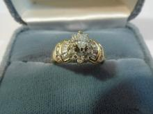 14K GOLD MARQUIS CUT 0.75 CARAT DIAMOND RING - 3.7 GRAM