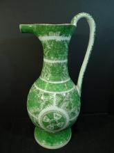 LARGE RARE ANTIQUE CHINESE GREEN FITZHUGH PORCELAIN