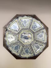 A CHINESE ANTIQUE BLUE AND WHITE PORCELAIN DISHS