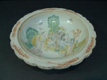 VERY FINE ANTIQUE CHINESE FAMILLE ROSE PORCELAIN PLATE.  CIRCA 1860S