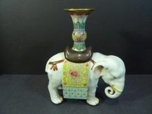 ANTIQUE CHINESE FAMILLE ROSE ELEPHANT PORCELAIN REPUBLIC PERIOD