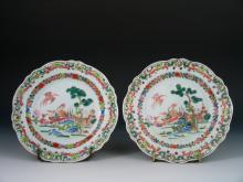 Pair of Antique Chinese Export Famille Rose Porcelain