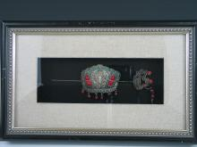 Antique Chinese Hair Pin in Glass Frame