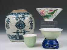 A Group of Chinese Porcelain Pieces.