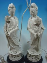 OLD pair Chinese Blanc de chine Dehua porcelain