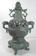 ANCIENT CHINESE FOUR EARS BRONZE CENSER