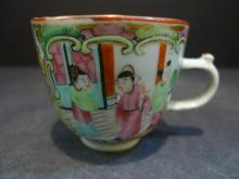 ANTIQUE CHINESE ROSE MEDALLION PORCELAIN CUP 19TH CENTURY