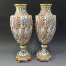 PAIR OF EXQUISITE CHINESE EXPORT STYLE VASE - FRENCH SAMSON