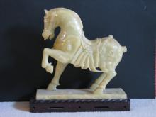 Chinese Carved Hardstone Horse